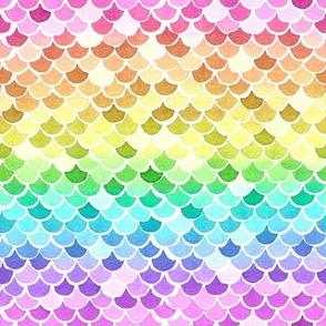 Mermaid Scales - Pastel Rainbow