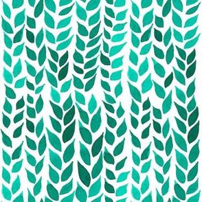 Watercolor Leaves - Green