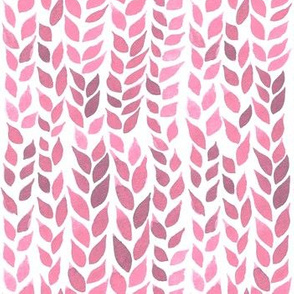 Watercolor Leaves - Light Pink