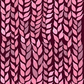 Watercolor Leaves - Light Pink 2