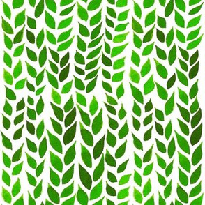 Watercolor Leaves - Lime Green