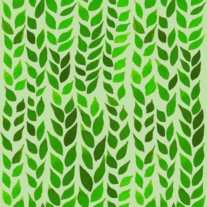 Watercolor Leaves - Lime Green 2