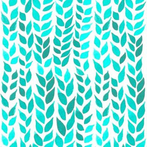 Watercolor Leaves - Mint