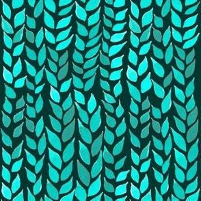 Watercolor Leaves - Mint 2