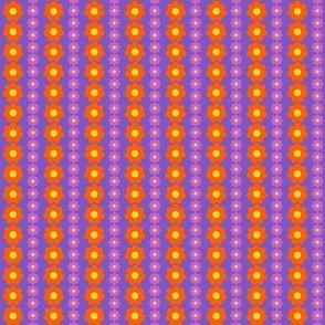 Mod Daisy Stripe M Purple