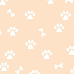 Little paws and bones minimalist boho pet paws foot print lovers dogs and cats butter yellow white
