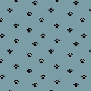 The minimalist paws animal foot print boho scandinavian style cool blue black