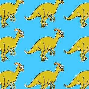 Cute Parasaurolophus - on blue