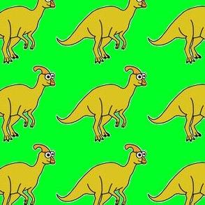 Cute Parasaurolophus - on green