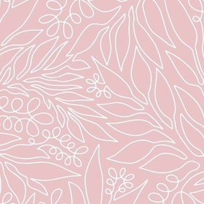 Contour Line Botanicals Blush Pink