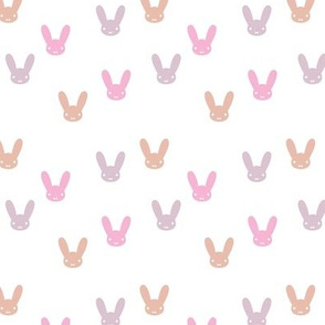 The minimalist boho bunny sweet rabbit design easter spring kids pattern baby nursery pink peach lilac