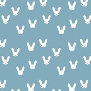The minimalist boho bunny sweet rabbit design easter spring kids pattern baby nursery cool blue boys