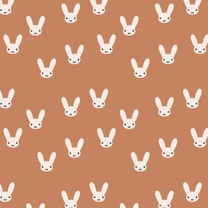 The minimalist boho bunny sweet rabbit design easter spring kids pattern baby nursery rust copper brown