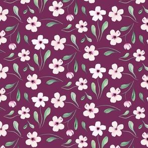 blush floral in magenta