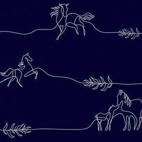 Navy Line Horses