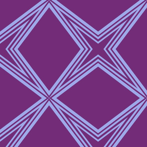 Harry's Sleep Pattern: Star Connection - Purple and Periwinkle - MEDIUM