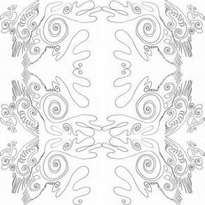 organic line - contour drawing-