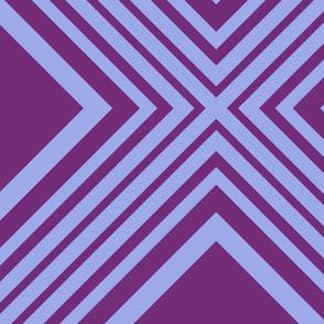 Harry's Sleep Pattern: Diamond Field - Purple and Periwinkle - LARGE