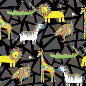 Animals and Triangles (Dark)