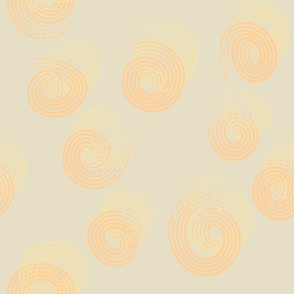 Swirls - Gold and Orange
