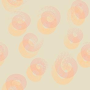 Swirls- Pink and Orange