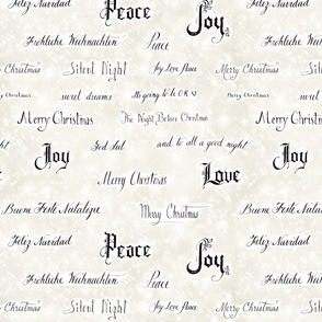 Vintage Merry Christmas Words for sewing projects 2