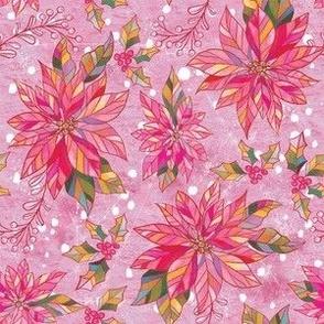 Small Pink Poinsettias