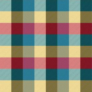 "simple 1""madras -  retro circus colors"