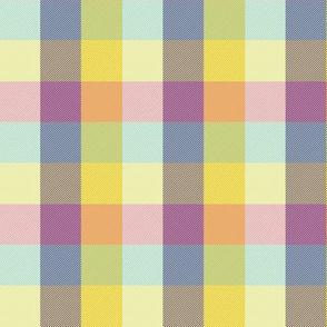 "simple 1"" Madras - spring quilt purple"