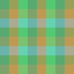 """simple 1""""madras - serene green and copper"""