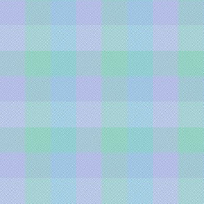 """simple 1""""madras - pastel blue, green and lavender"""