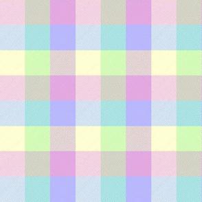 """simple 1""""madras - sweet pastel"""