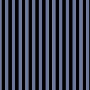 Stonewash Grey Bengal Stripe Pattern Vertical in Black