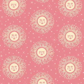 Golden Sun - dusty rose pink - large.