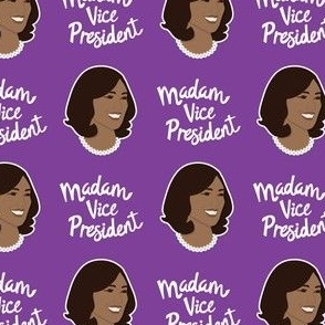Kamala Harris Madam Vice President Purple