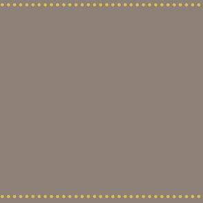 grey and harvest gold dot line