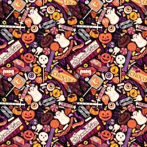 Creepy Halloween Candy on Black Micro