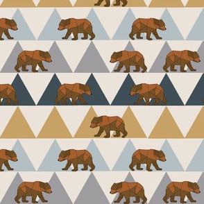 Geometric Bears and Mountains - Small Scale