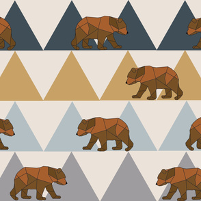 Geometric Bears and Mountains - Large Scale