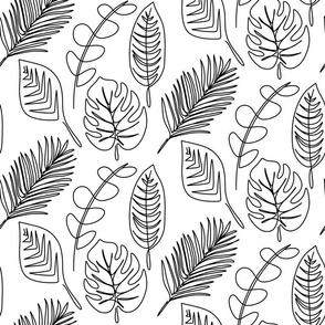 01 Lineart Leaves