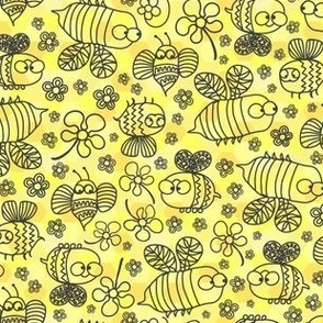 Sketchy Bees on the Move