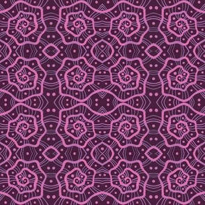 Helices Abstract Curves Arabesque Pattern Pink Purple