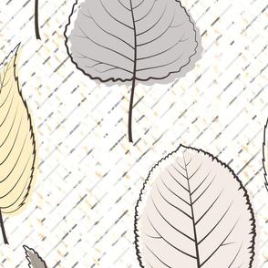 grey retro leaf