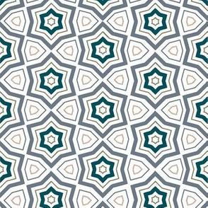 Blue Geometric Stars