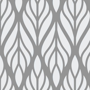 Grey Abstract Leaves