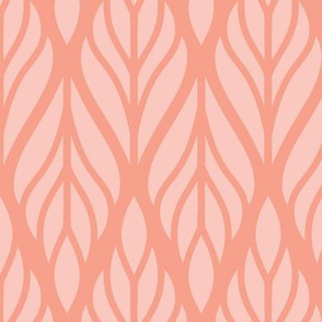 Pink Abstract Leaves