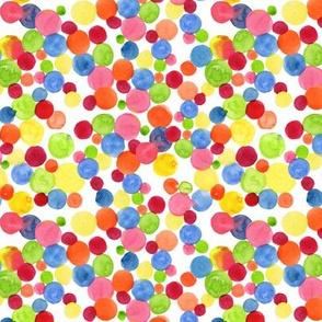 Bright Watercolor Polka Dots