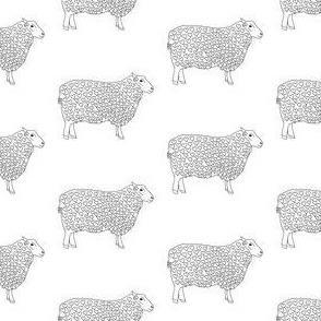 CR_04442_Sheep Art Drwring Hearts on White