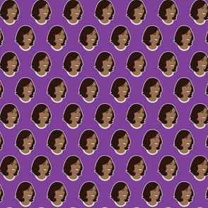 Kamala Harris Mico Vice President on Purple