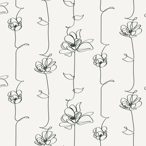 One Line Floral  - Large Scale
